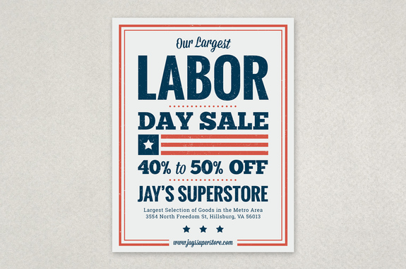 Labor Day Sale Flyer Template Inkd - labour day flyer template