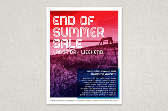 End of Summer Labor Day Flyer Template Inkd