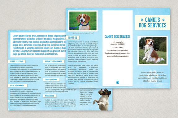 Pet Services Brochure Template Inkd - services brochure