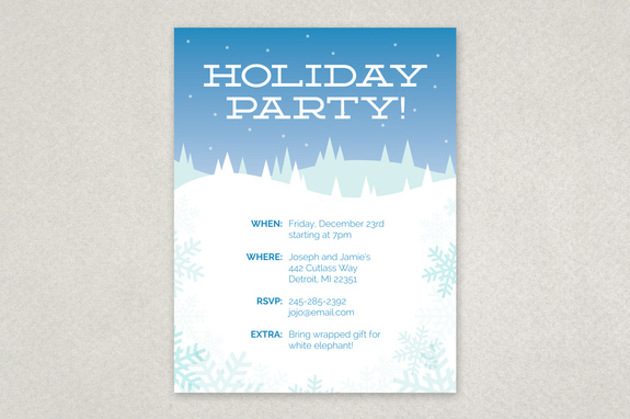 Winter Holiday Party Flyer Template Inkd - winter flyer template