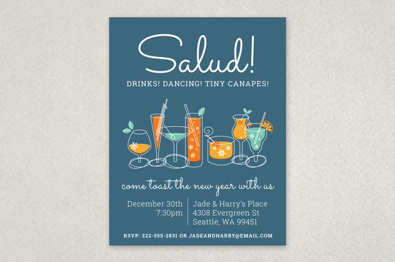 Illustrated Holiday Party Flyer Template Inkd