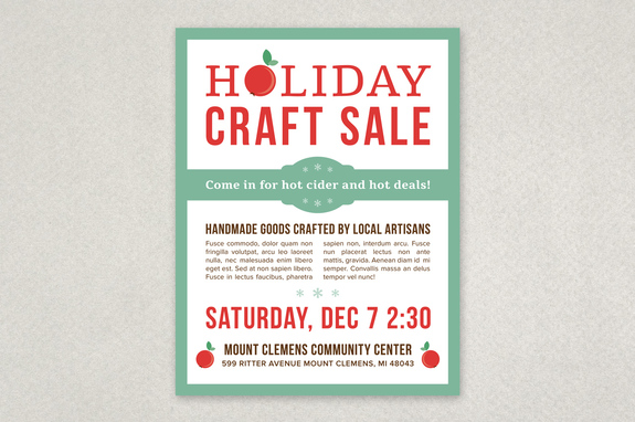 holiday sale flyers - Peopledavidjoel - Flyer Outline