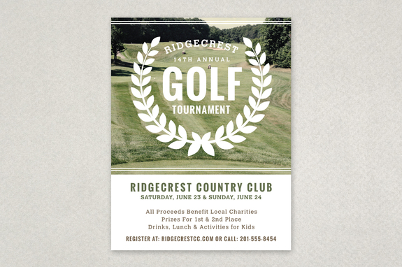 Golf Tournament Vintage Flyer Template Inkd - golf tournament flyer template