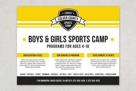 Energetic Sports Camp Flyer Template Inkd
