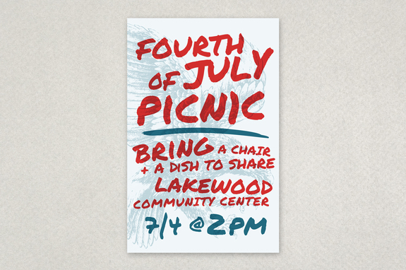 Summer Picnic Handwriting Flyer Template Inkd - picnic flyer template