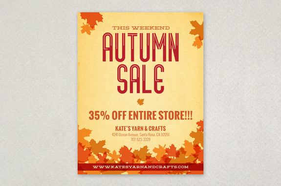 Autumn Leaves Flyer Design Template Inkd