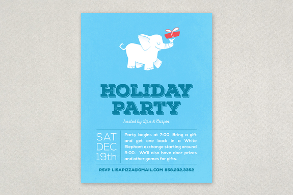 White Elephant Party Flyer Template Inkd - holiday party flyer template