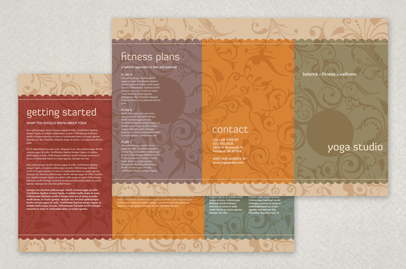 Yoga Studio Brochure Template Inkd - studio brochure