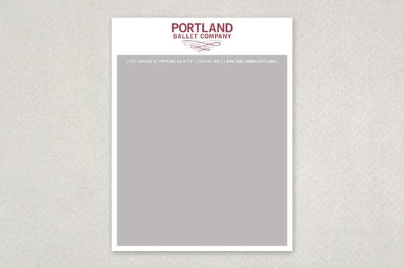 Contemporary Ballet Letterhead Template Inkd