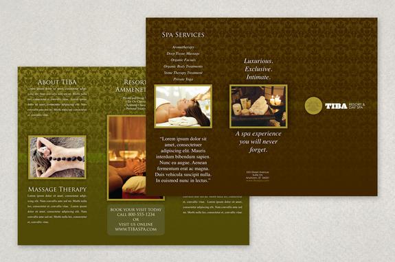 Exclusive Spa Brochure Template Inkd