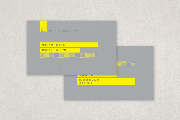 Personal Trainer Business Card Template Inkd