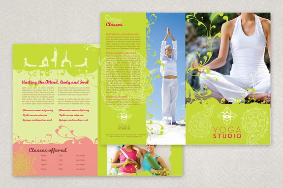 Contemporary Yoga Brochure Template Inkd - membership brochure template