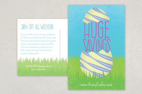 Spring Sale Easter Postcard Design Template Inkd