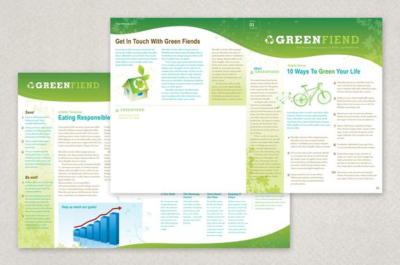 Going Green Flyer Newsletter Template Inkd