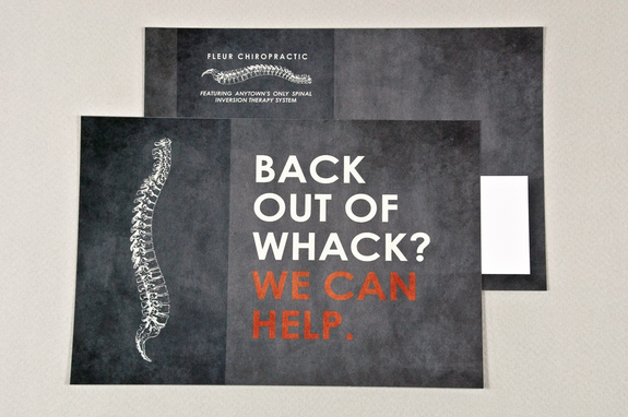 Chiropractic Postcard Template Inkd