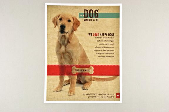Friendly Dog Walking Flyer Template Inkd