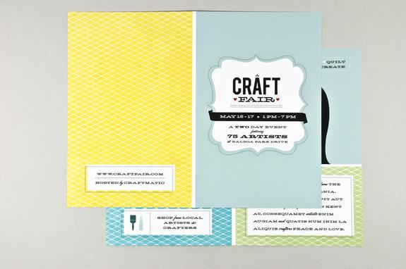 Retro Craft Fair Brochure Template Inkd