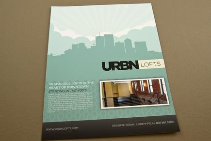 Contemporary Urban Lofts Flyer Template Inkd - contemporary flyer