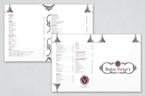 Elegant Design Cafe Menu Template Inkd - Cafe Menu Template