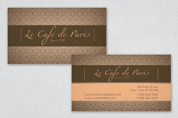 Parisian Cafe Business Card Template Inkd