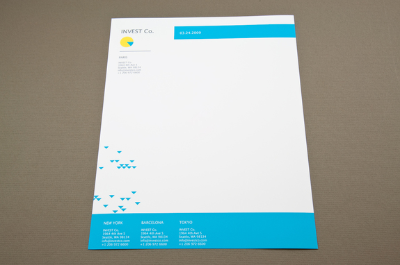 Investment Company Letterhead Template Inkd