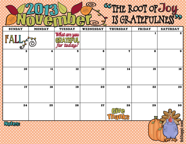November 2013 Calendar It\u0027s here! - inkhappi