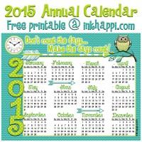 2015 Annual Calendar... Make it Count!
