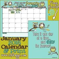 January 2015 Calendar... A new year!