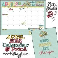 April 2015 Calendar ... Collecting Moments!