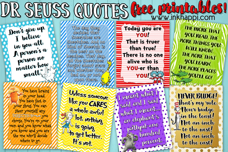 Lets Celebrate a birthday with these Dr Seuss Printables! - inkhappi