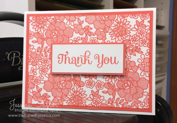 Thank You Cards in Any Color - Ink it Up With Jessica Card Making