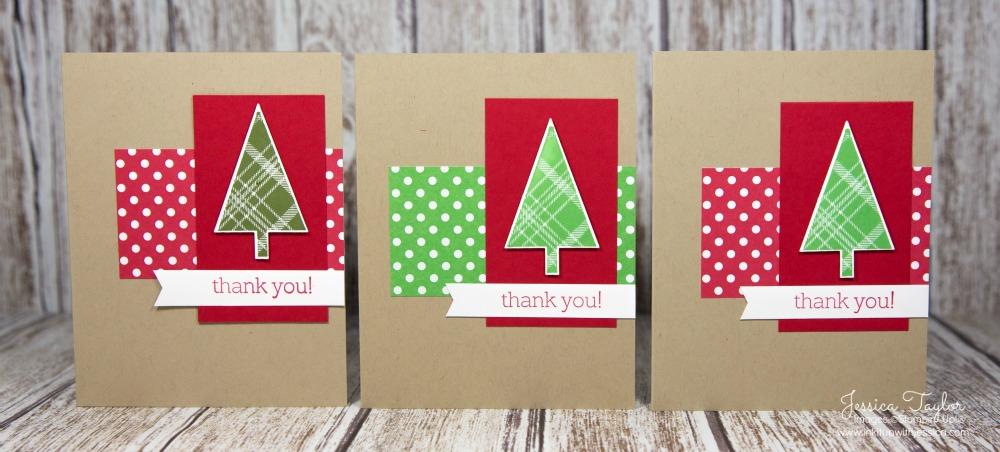 A Tale of 3 Christmas Thank You Cards - Ink it Up With Jessica