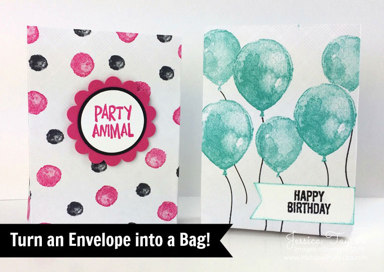 How to Make an Envelope into a Bag! - Ink it Up With Jessica Card