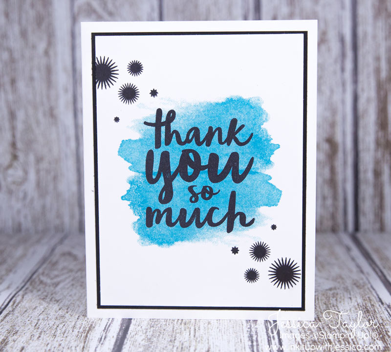 Splash of Color Thank You Cards - Ink it Up With Jessica Card