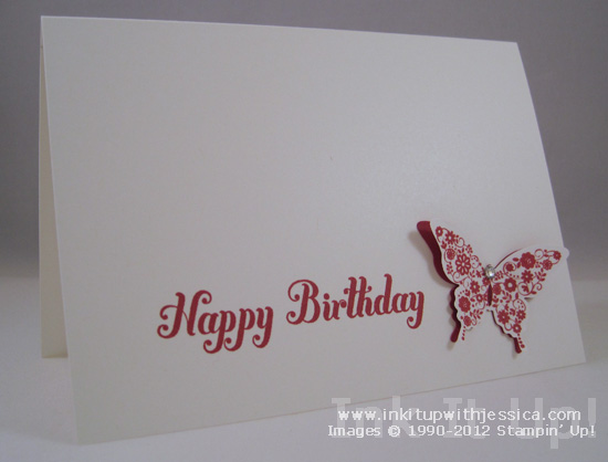 Elegant Butterfly Birthday Card - Ink it Up With Jessica Card