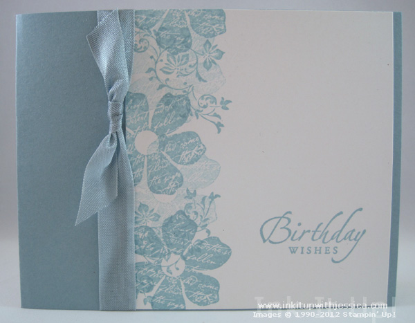 Monochromatic Birthday Card - Ink it Up With Jessica Card Making