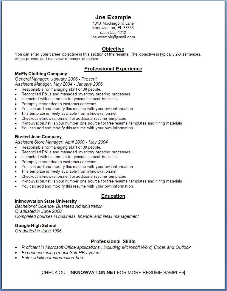 Free Cv Template Wordpad Different Formats Of A Resume Cppmusic Sample Resume 3