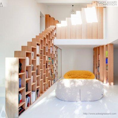 The Bookshelf House by Andrea Mosca