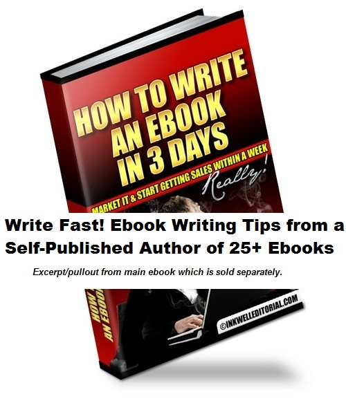 Write Fast! Ebook Writing Tips from a Self-Published Author of 25+ - self published author