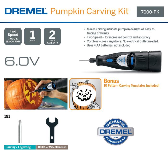 Dremel 7000 Series 6-Volt Alkaline Dual Speed Cordless Rotary Tool