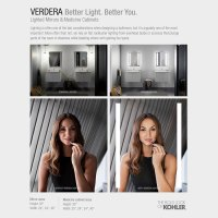 KOHLER Verdera 34 in. x 30 in. Recessed or Surface Mount ...