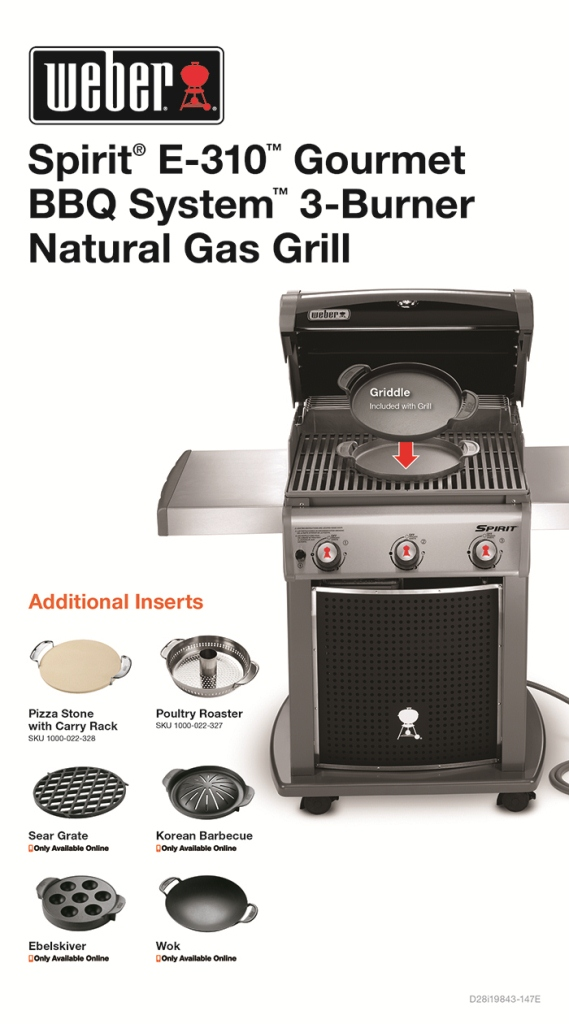 Weber E310 Weber Spirit E-310 3-burner Natural Gas Grill In Black
