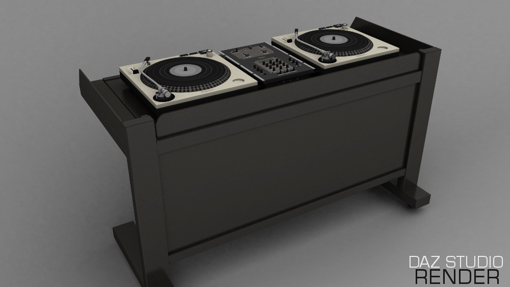 How Bad Is Modern Music 3d Dj Desk For Daz Studio & Poser 3d | Inlite Studio 3d Store