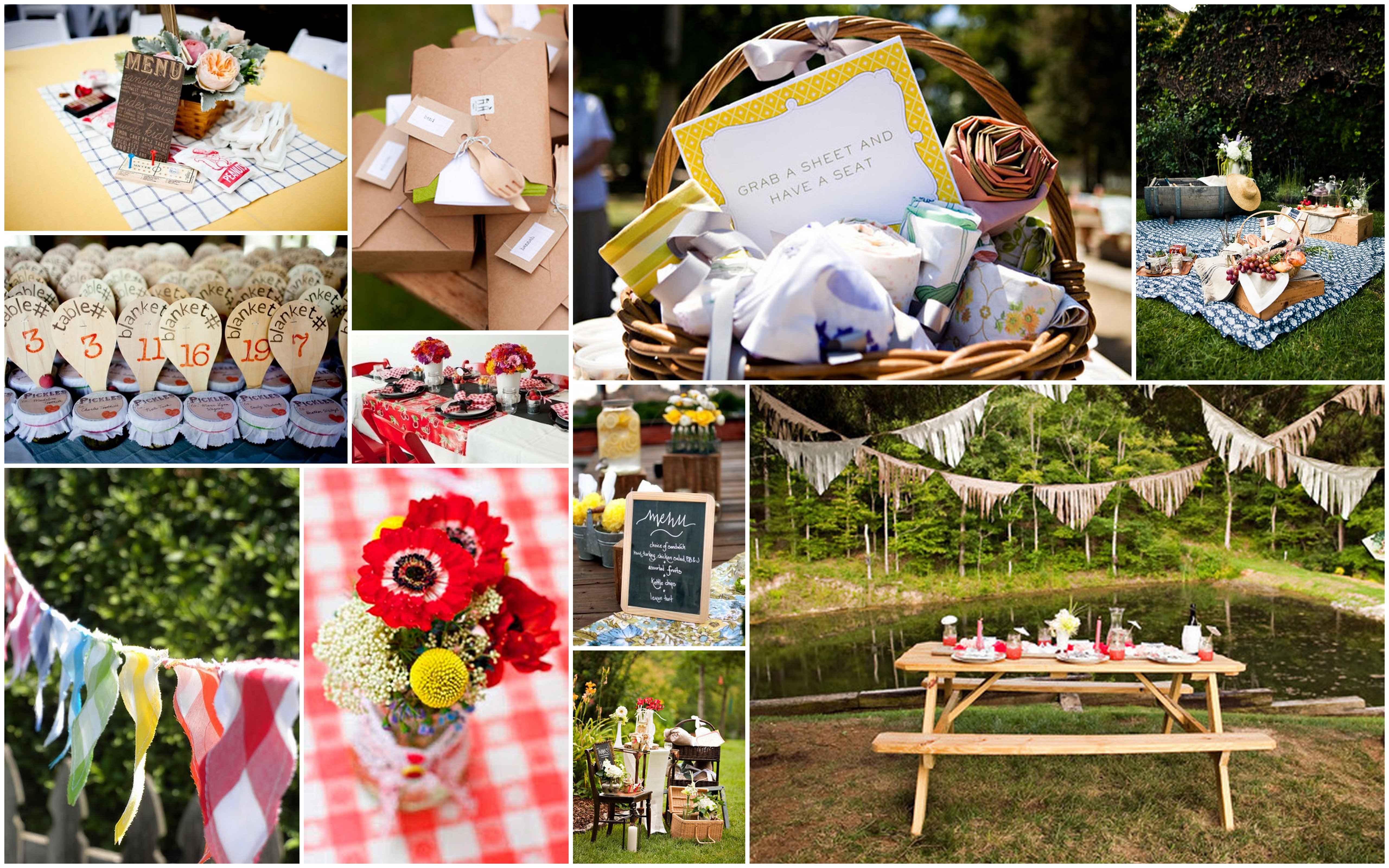 Picnic Themed Decorations In Love Engaged