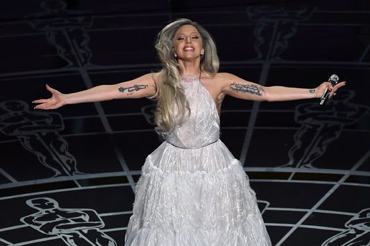 HOLLYWOOD, CA - FEBRUARY 22: Singer Lady Gaga performs onstage during the 87th Annual Academy Awards at Dolby Theatre on February 22, 2015 in Hollywood, California. (Photo by Kevin Winter/Getty Images)