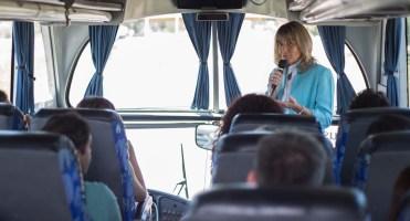 En el Bus Turístico.
