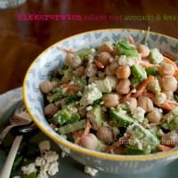 Kikkererwten salade met avocado