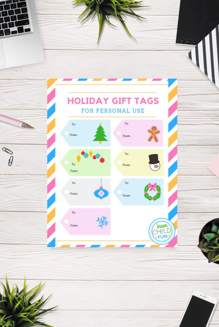 Christmas Gift Tags Free Printable - Inner Child Fun