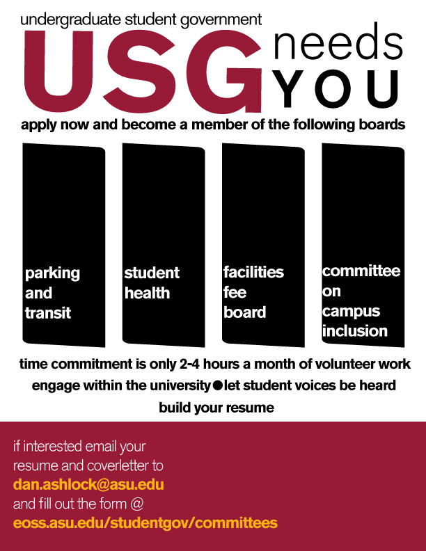 Undergraduate Student Government needs you Inner Circle