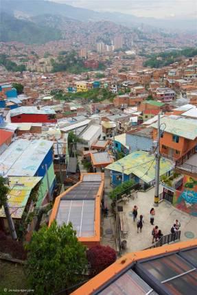 Outdoor Escalators: Medellin, Colombia